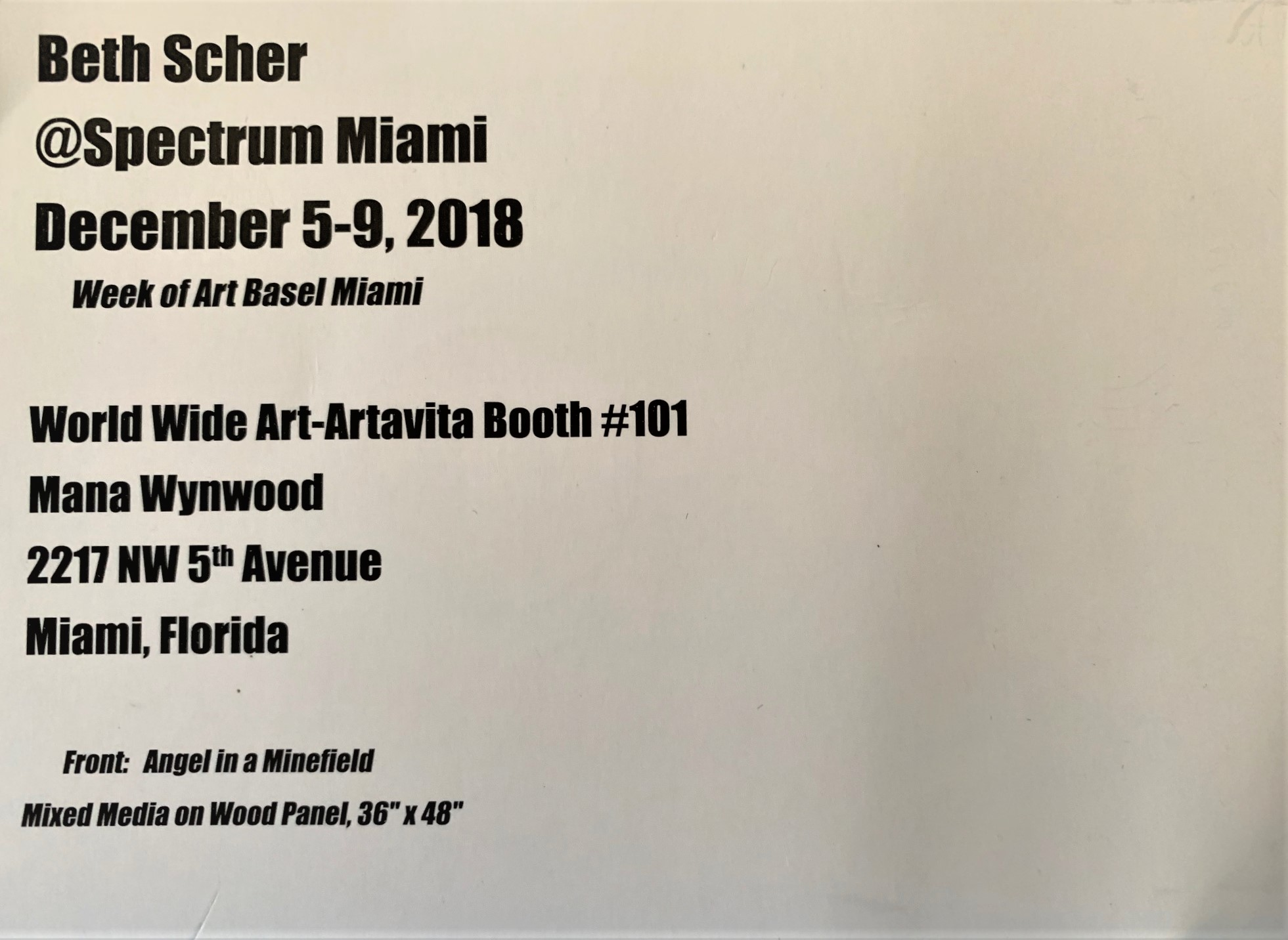 Spectrum@Art Basel Invite