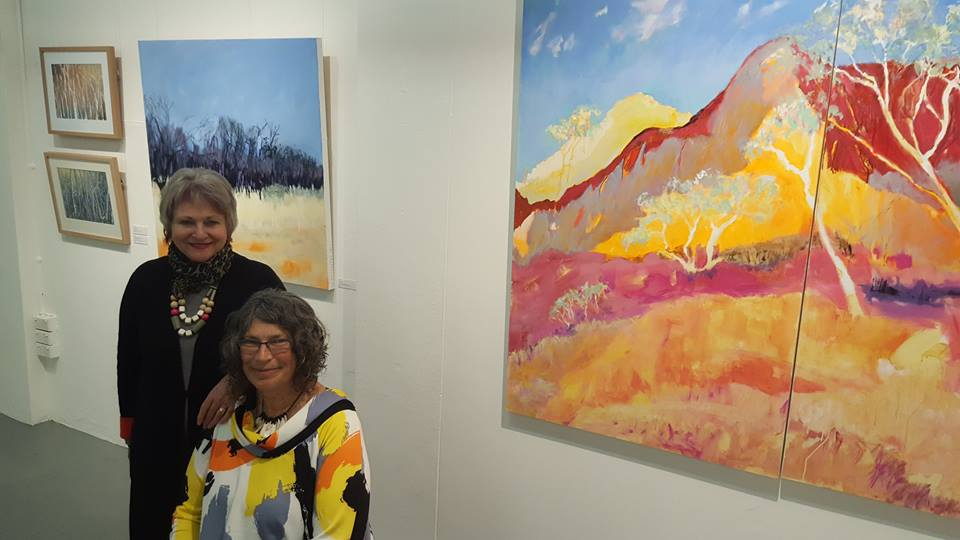 Barb and Meg at the opening of Listen to the Land