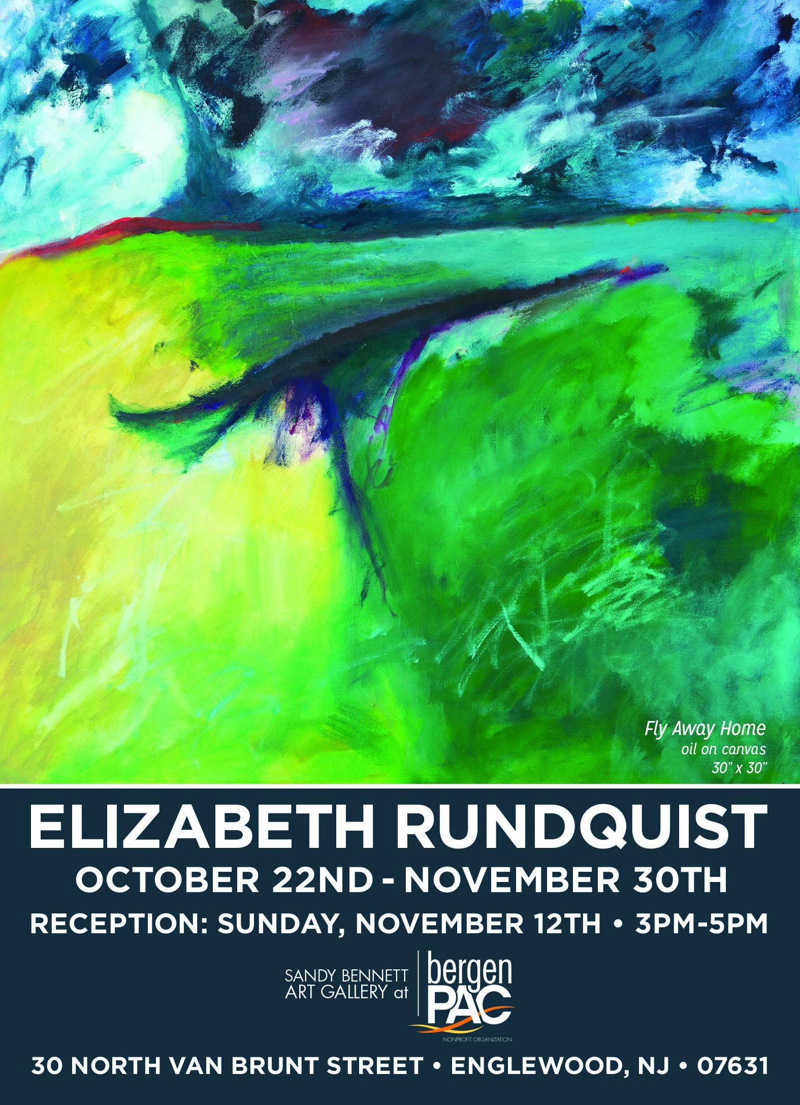 October 22 November 30 2017 OPENING RECEPTION Sunday November 12 3 5pm Sandy Bennett Art Gallery at Bergen PAC 30 North Van Brunt Street