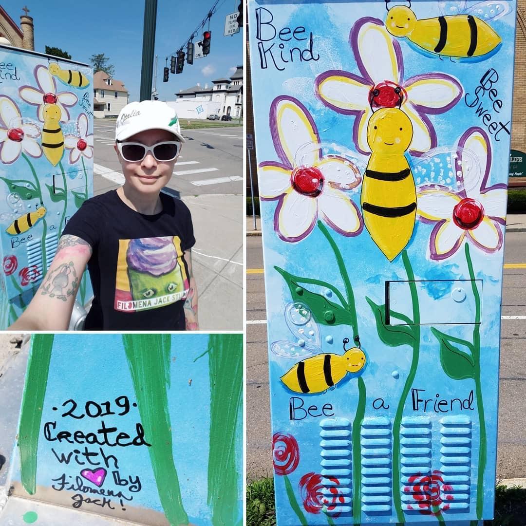 """""""Bee Sweet"""" Street art in Elmira"""