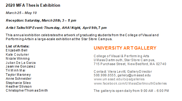 MFA Thesis show details