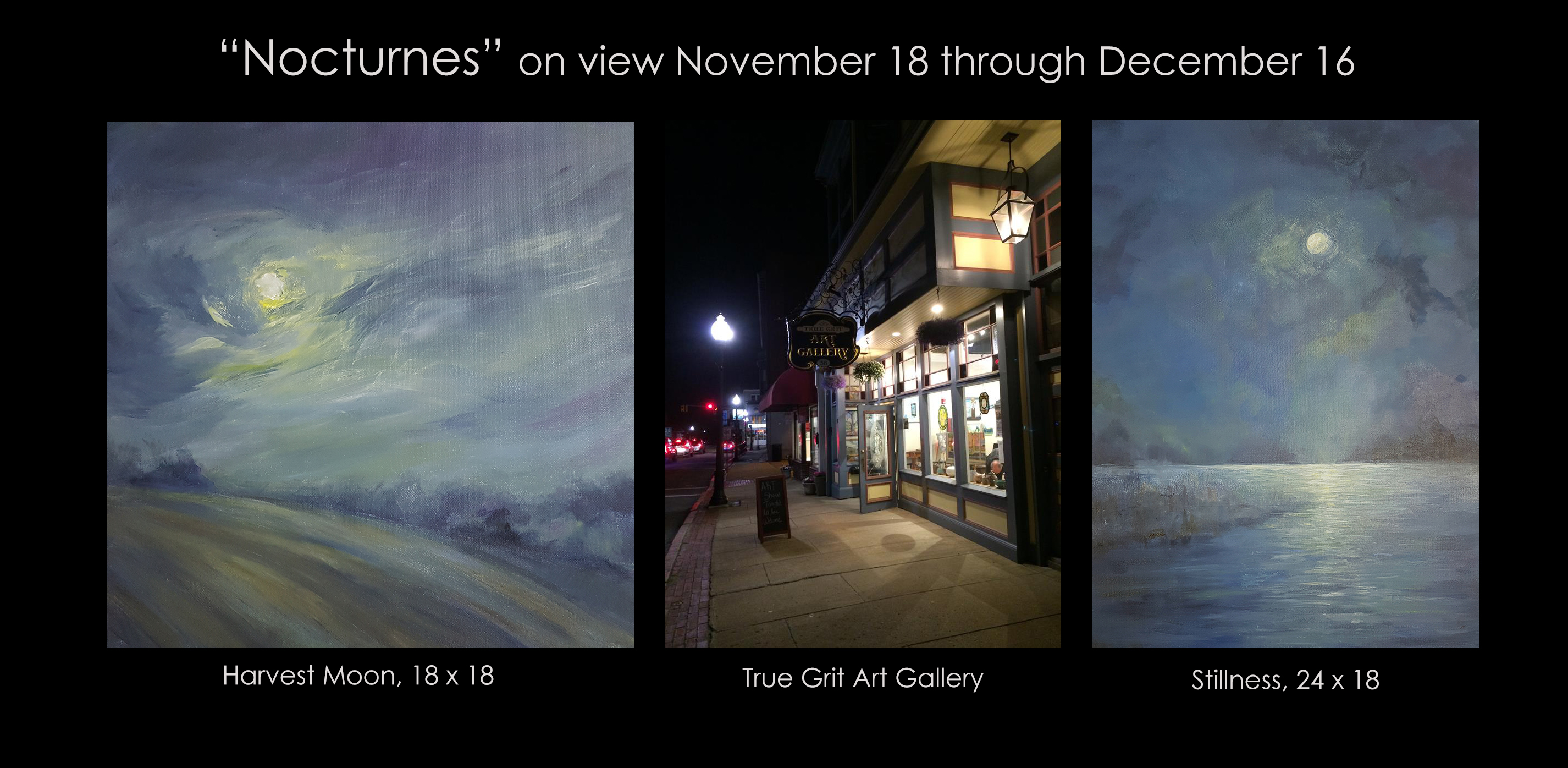 Nocturne exhibtion at True Grit Gallery