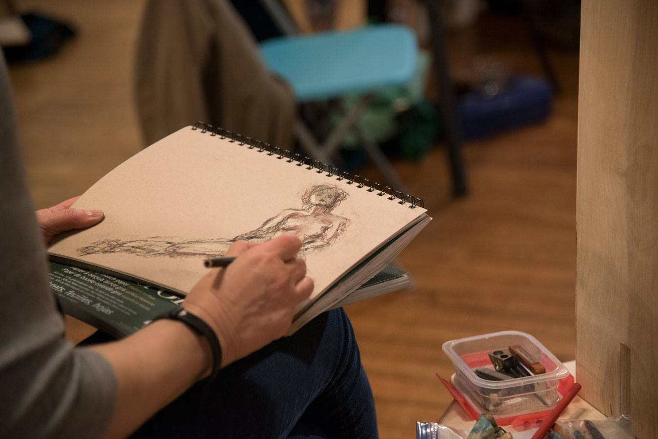 Heather Stivison figure drawing open studio