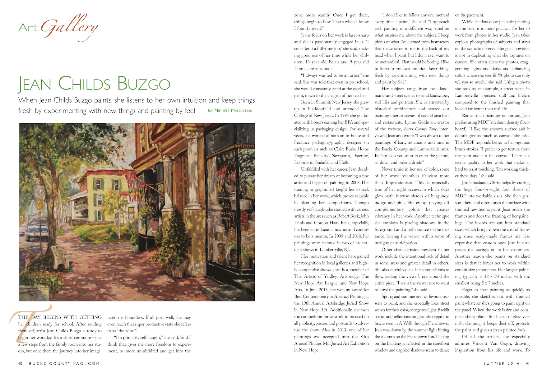 Bucks County Magazine Article