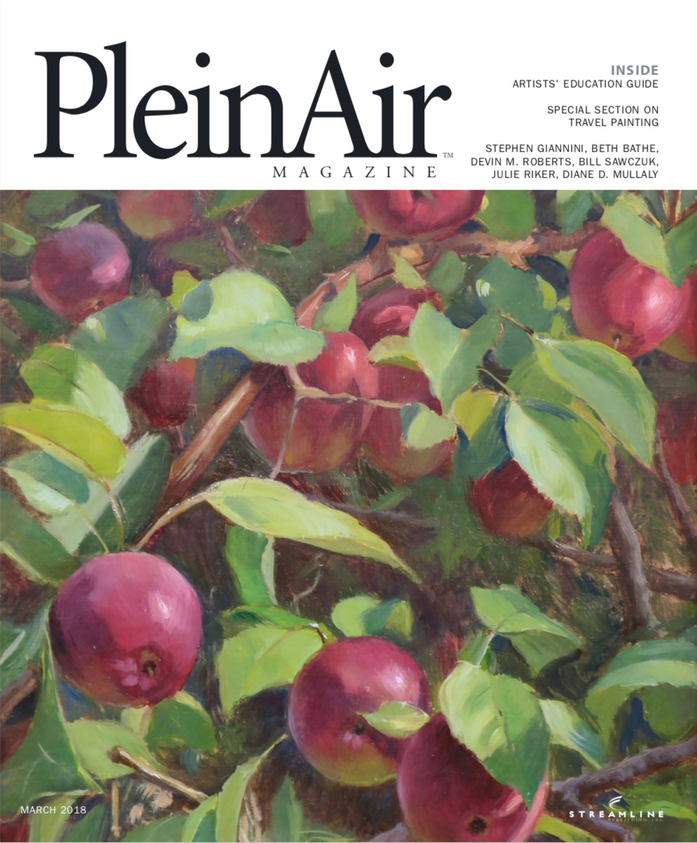 Feature article Plein Air Magazine Feb/Mar 2018