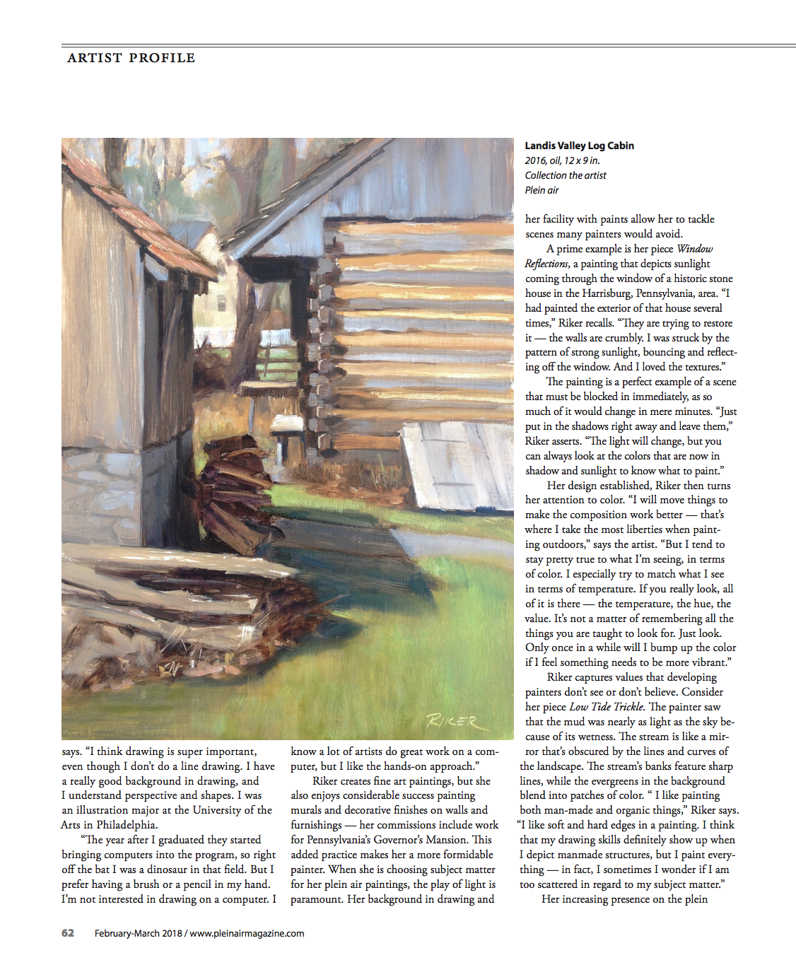 Plein Air Magazine, Feb/March 2018