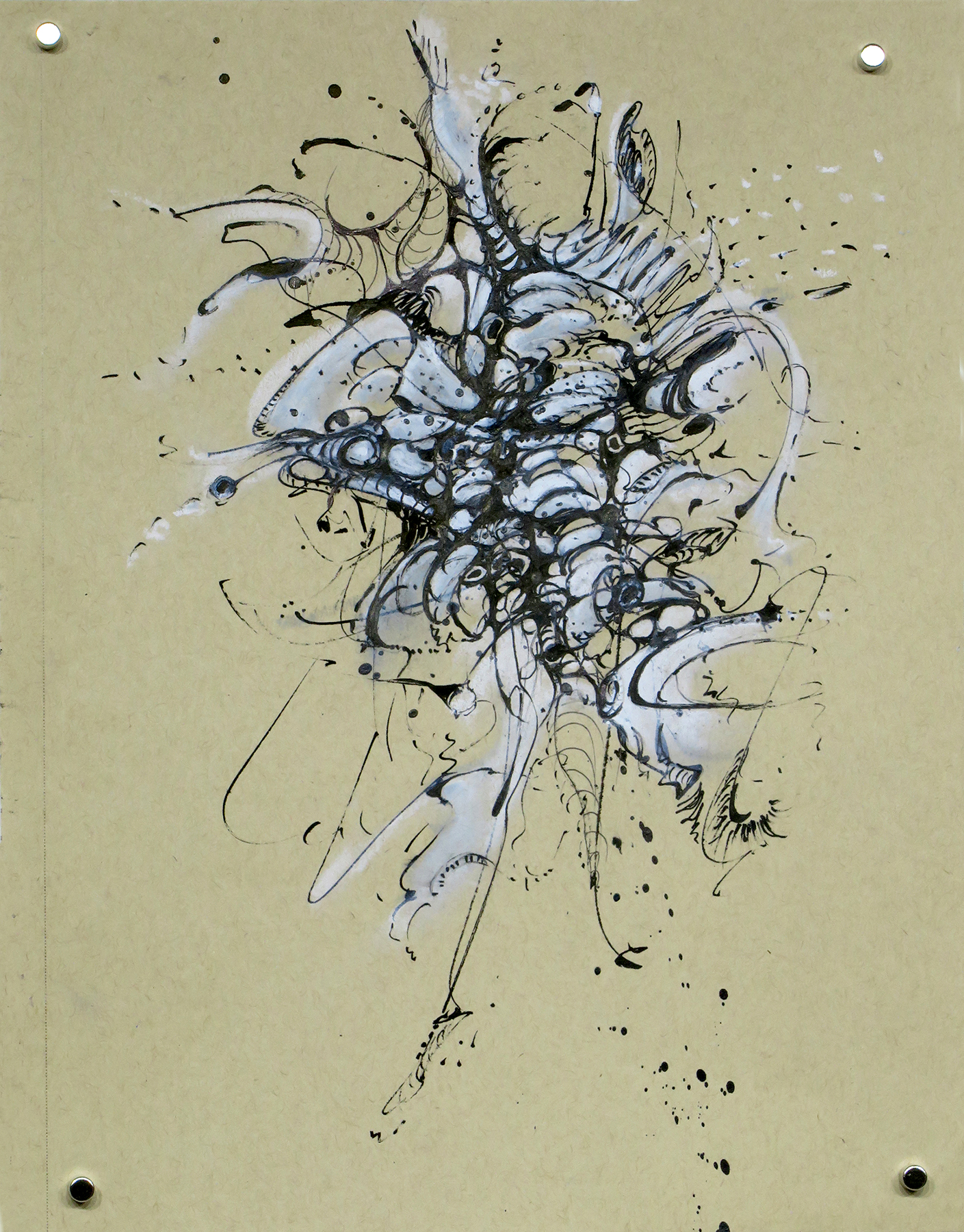 Kathryn Hart, Daunting Transitions, Krakow, Ink Drawing 4