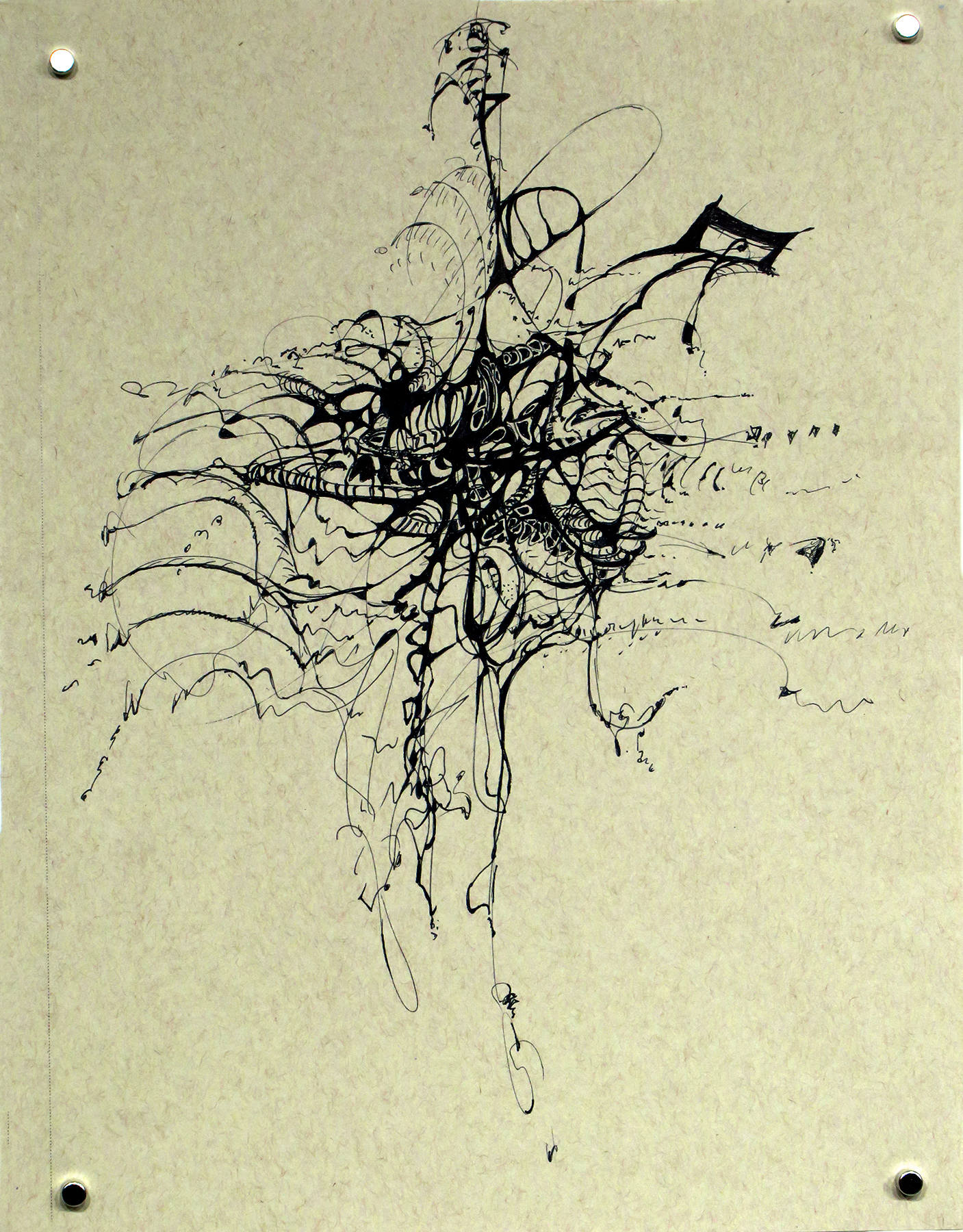 Kathryn Hart, Daunting Transitions, Krakow, Ink Drawing 3