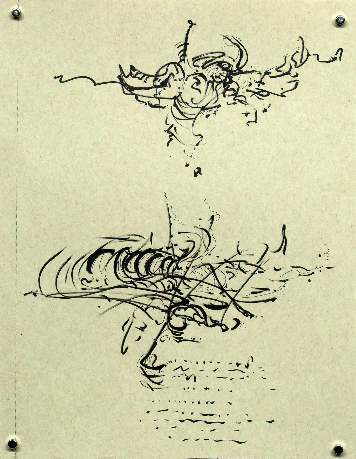Kathryn Hart, Daunting Transitions, Krakow, Ink Drawing 7