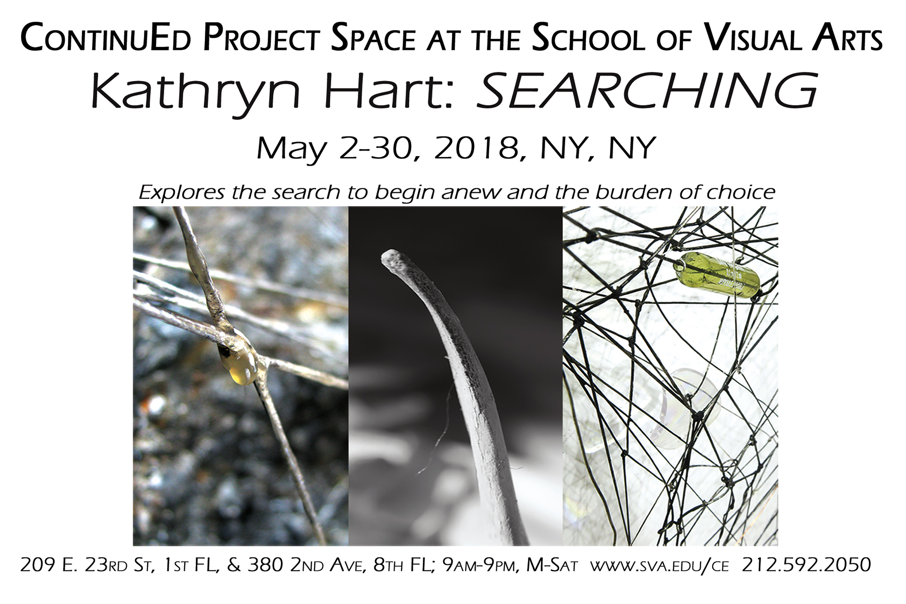 Kathryn Hart, Searching, ContinuEd Project Space at the School of Visual Arts, NYC