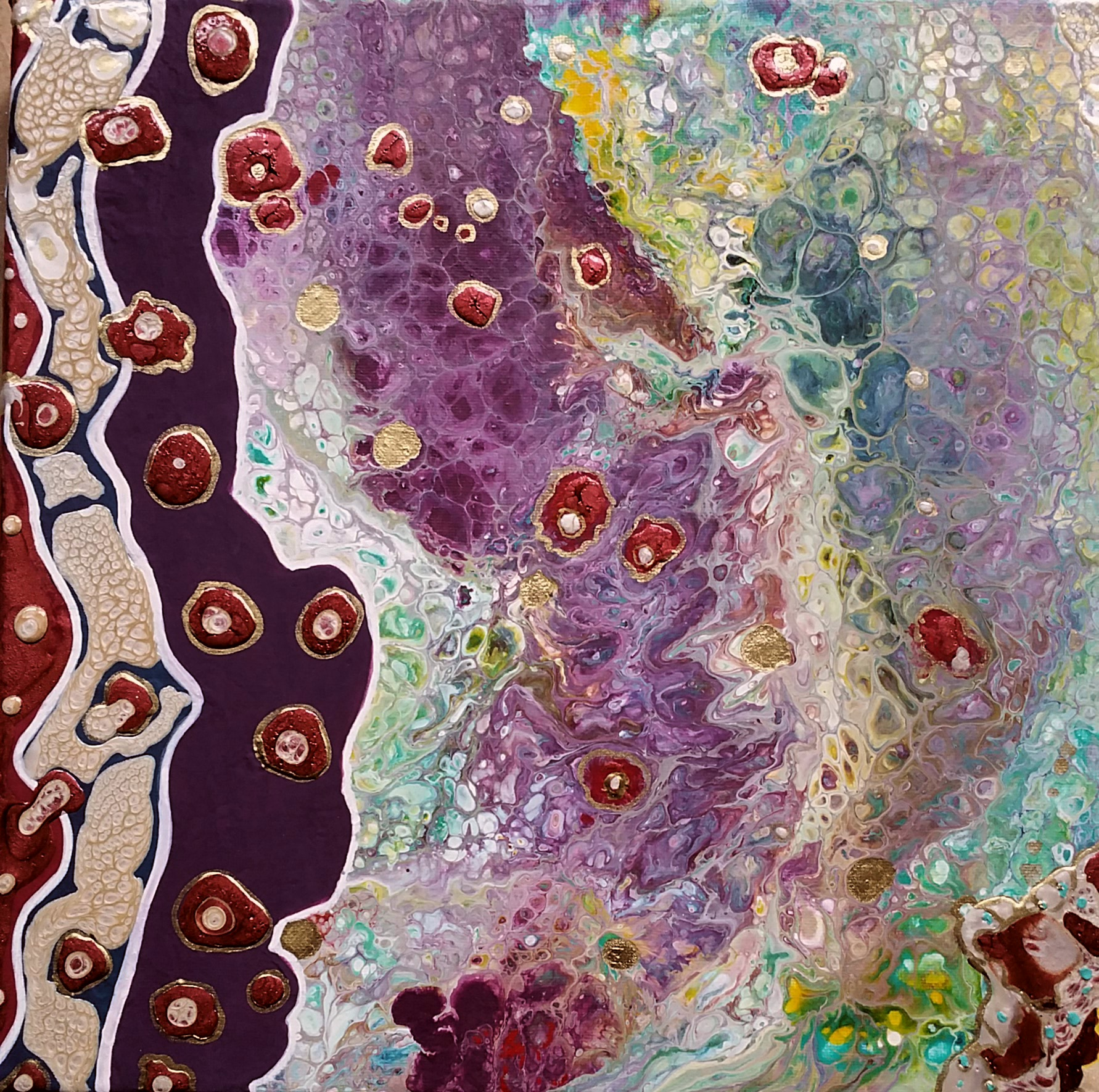 Mixed media and Pour