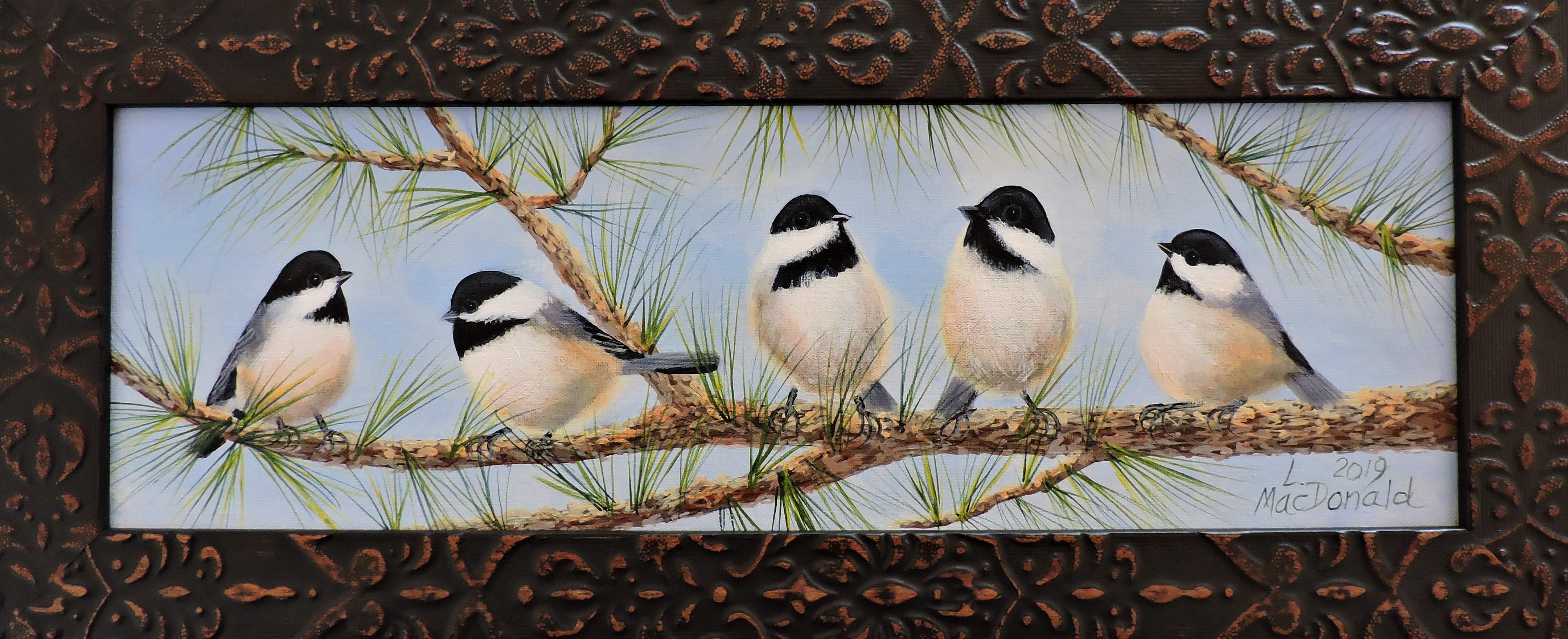 5 chickadees