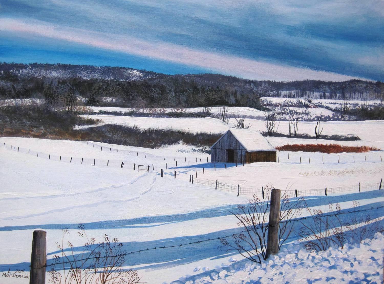 Berkshire Barn in Winter