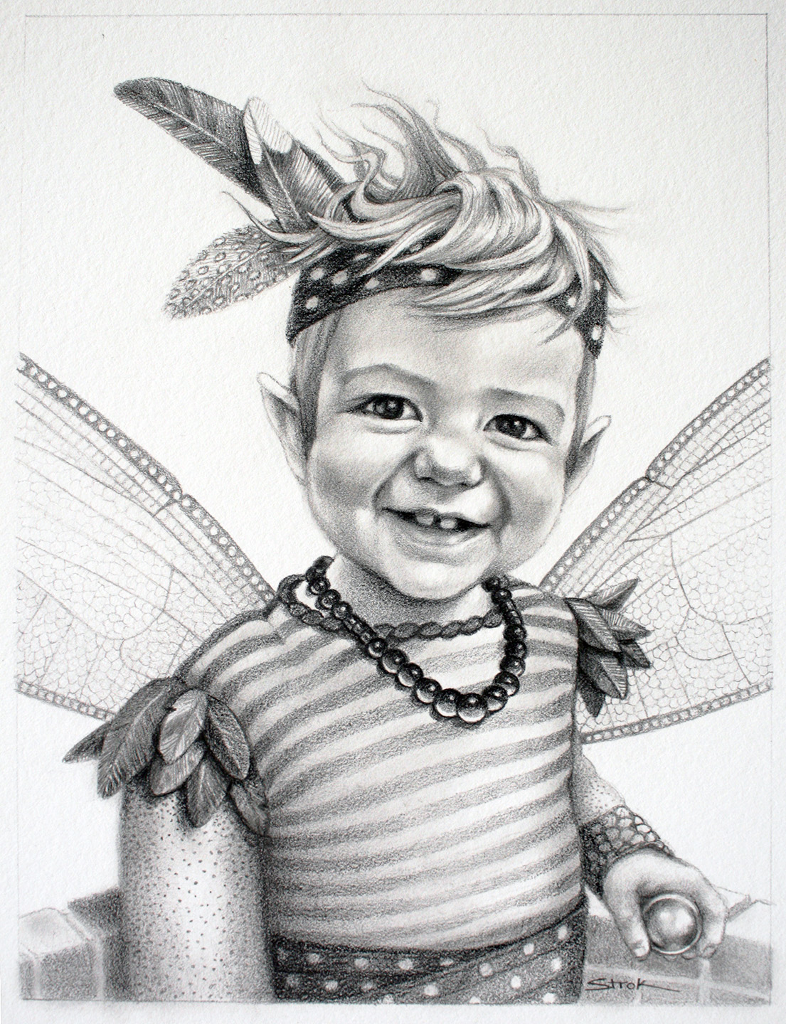 Magical Portrait of young boy in Wonderland