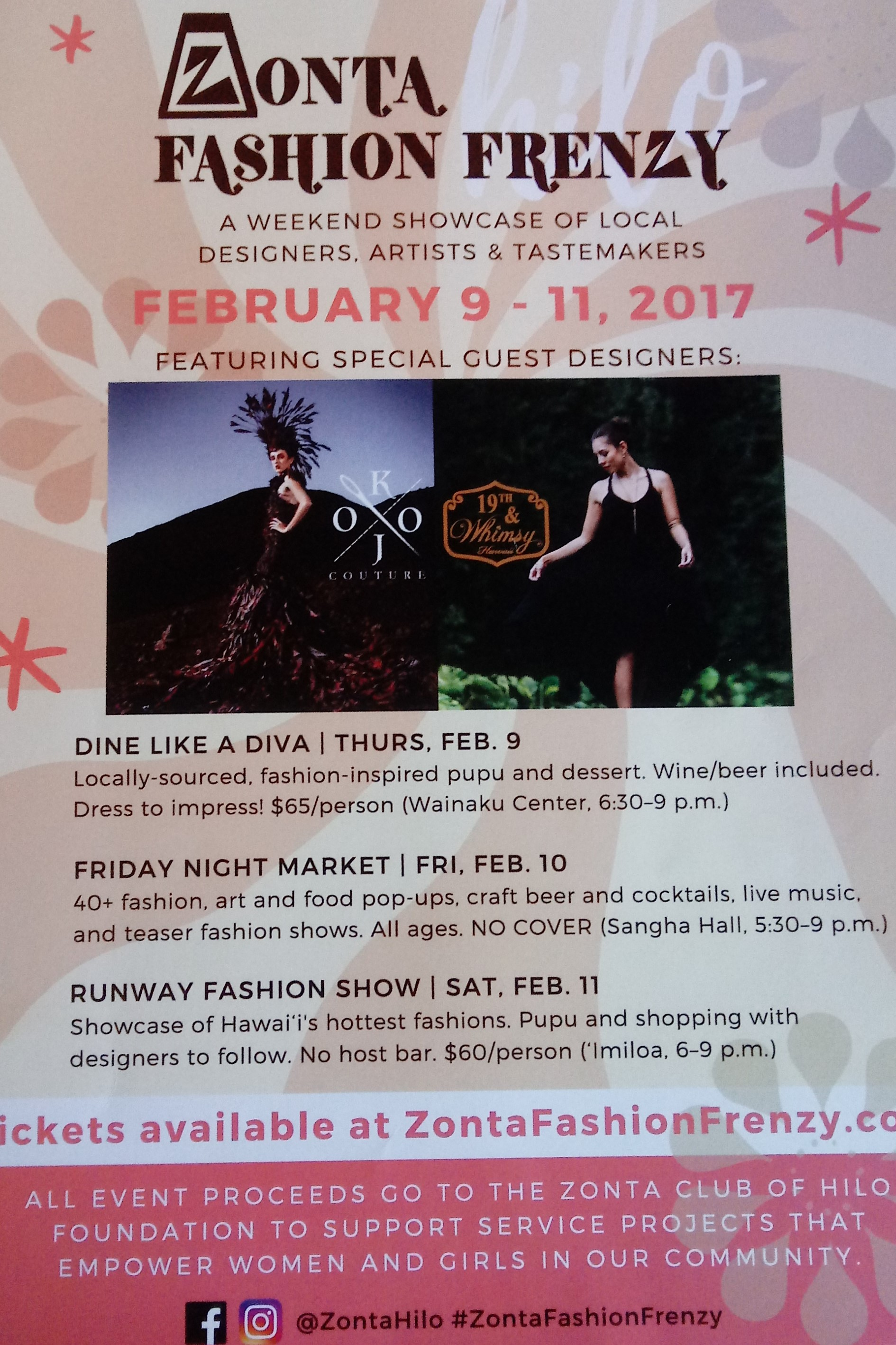 2017 Zonta Club fashion frenzy flyer