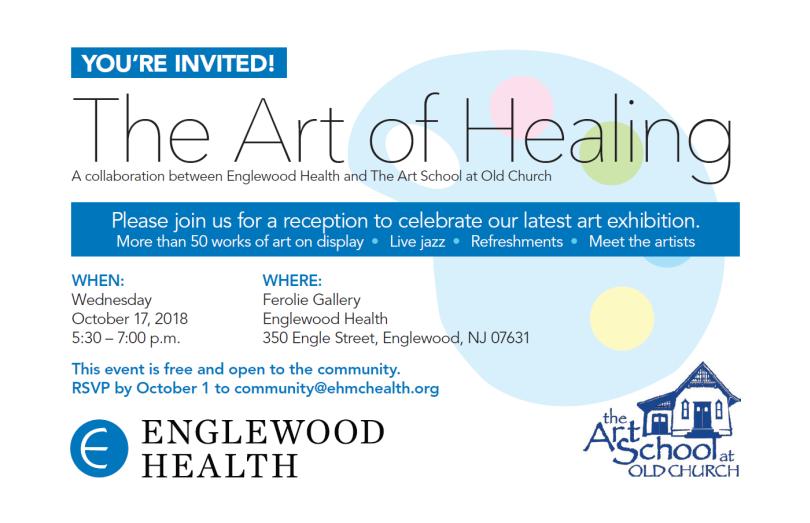 Art of Healing Reception Invite