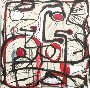 """""""Mark's Journey"""", acrylic on canvas"""