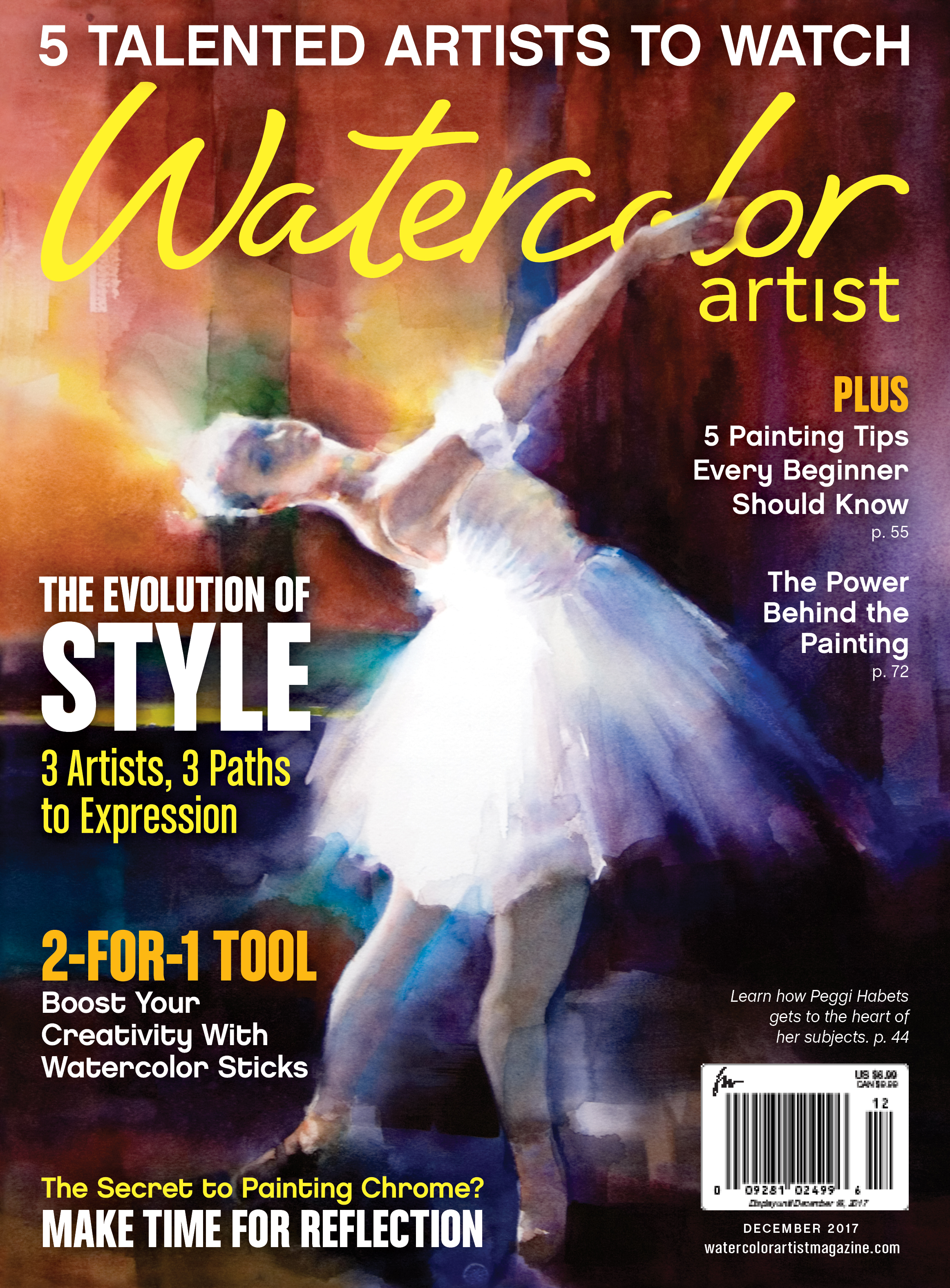 Watercolor artist magazine review - Feature Article And Cover In December 2017 Issue Of Watercolor Artist Magazine