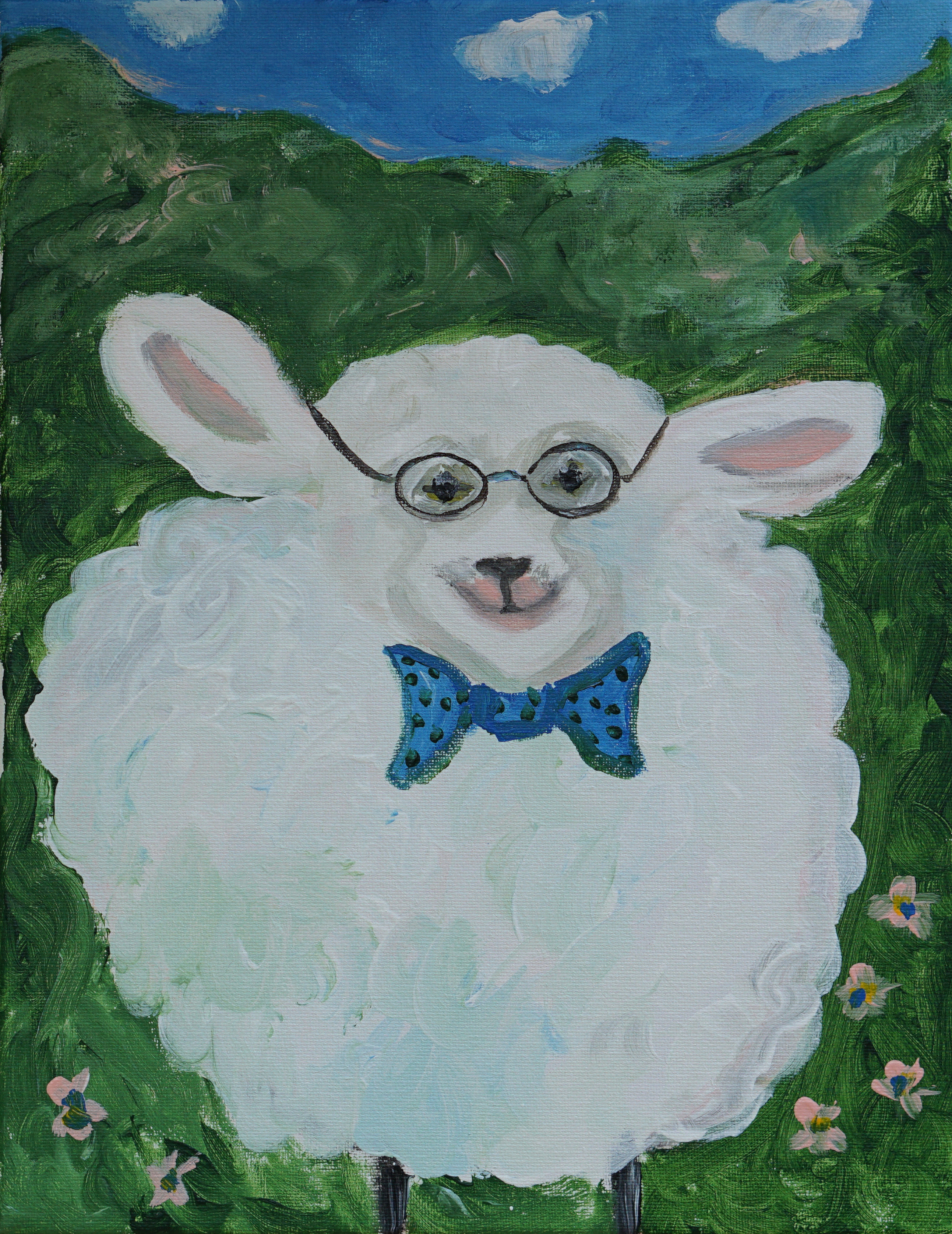 sheep and bow tie