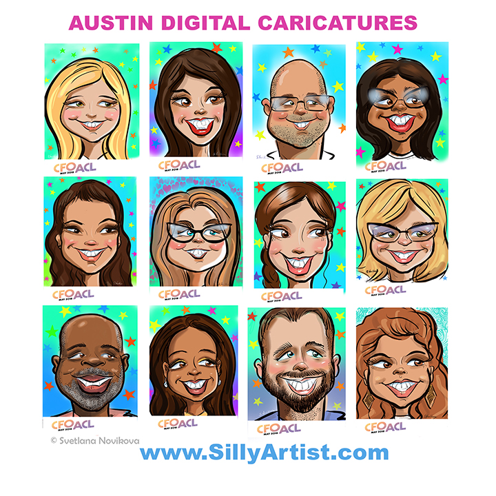 best party caricature artist in austin hire