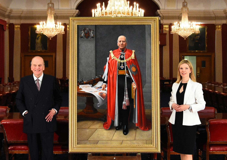 General Sir Timothy Granville-Chapman and Svetlana Cameron