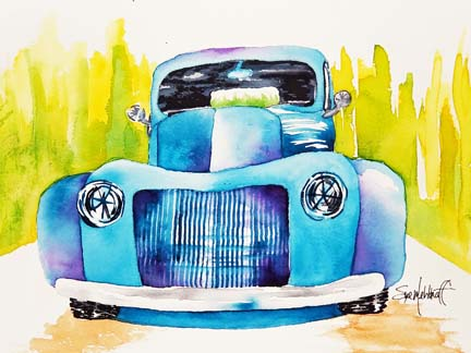 Old Blue Truck by Sue M.