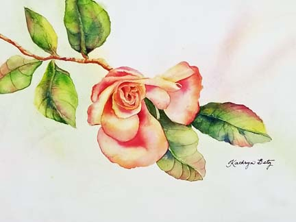 Hot Tamale Rose Bud by Kay B.