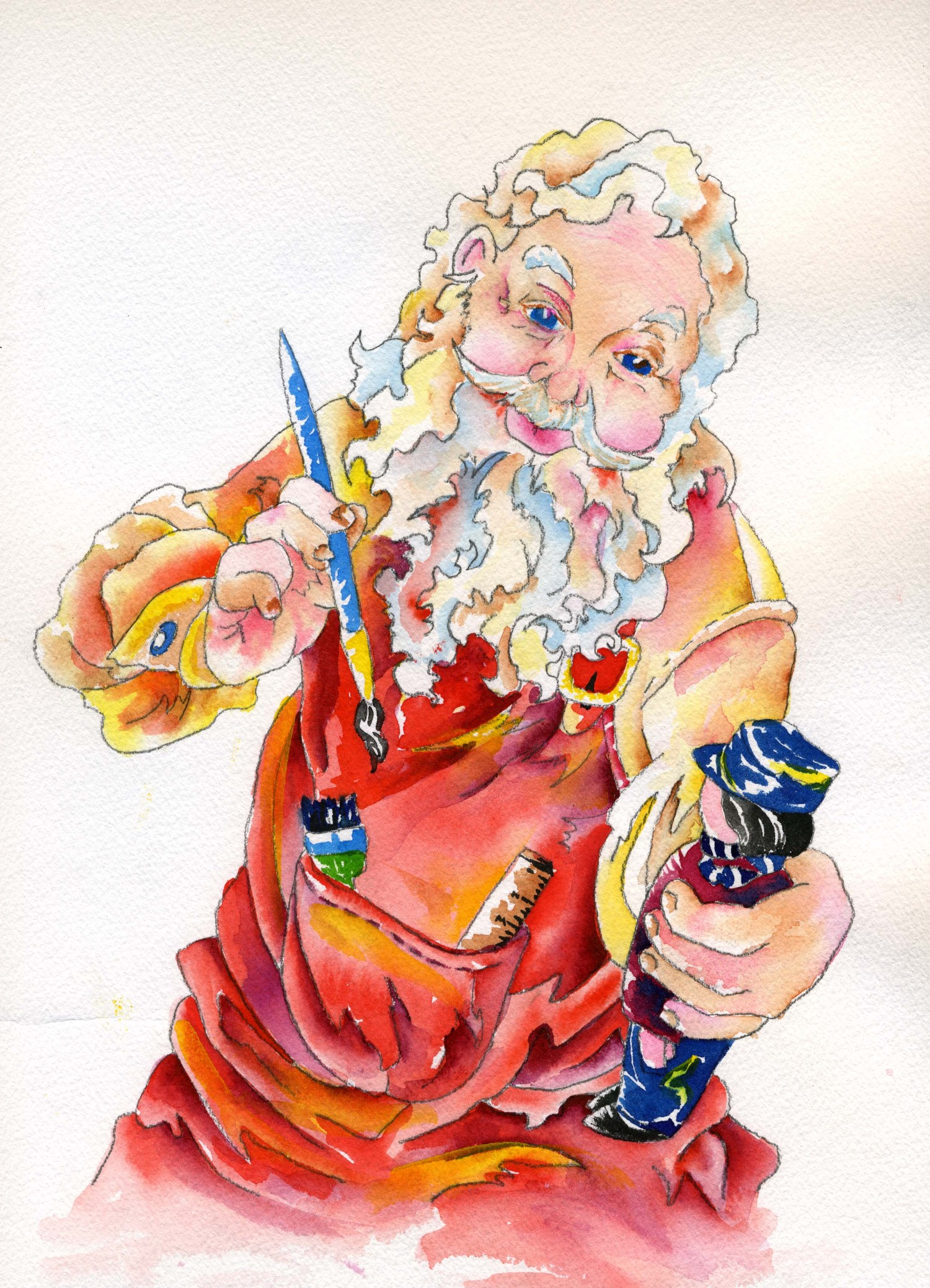 Handyman Santa by Valerie, your teacher!