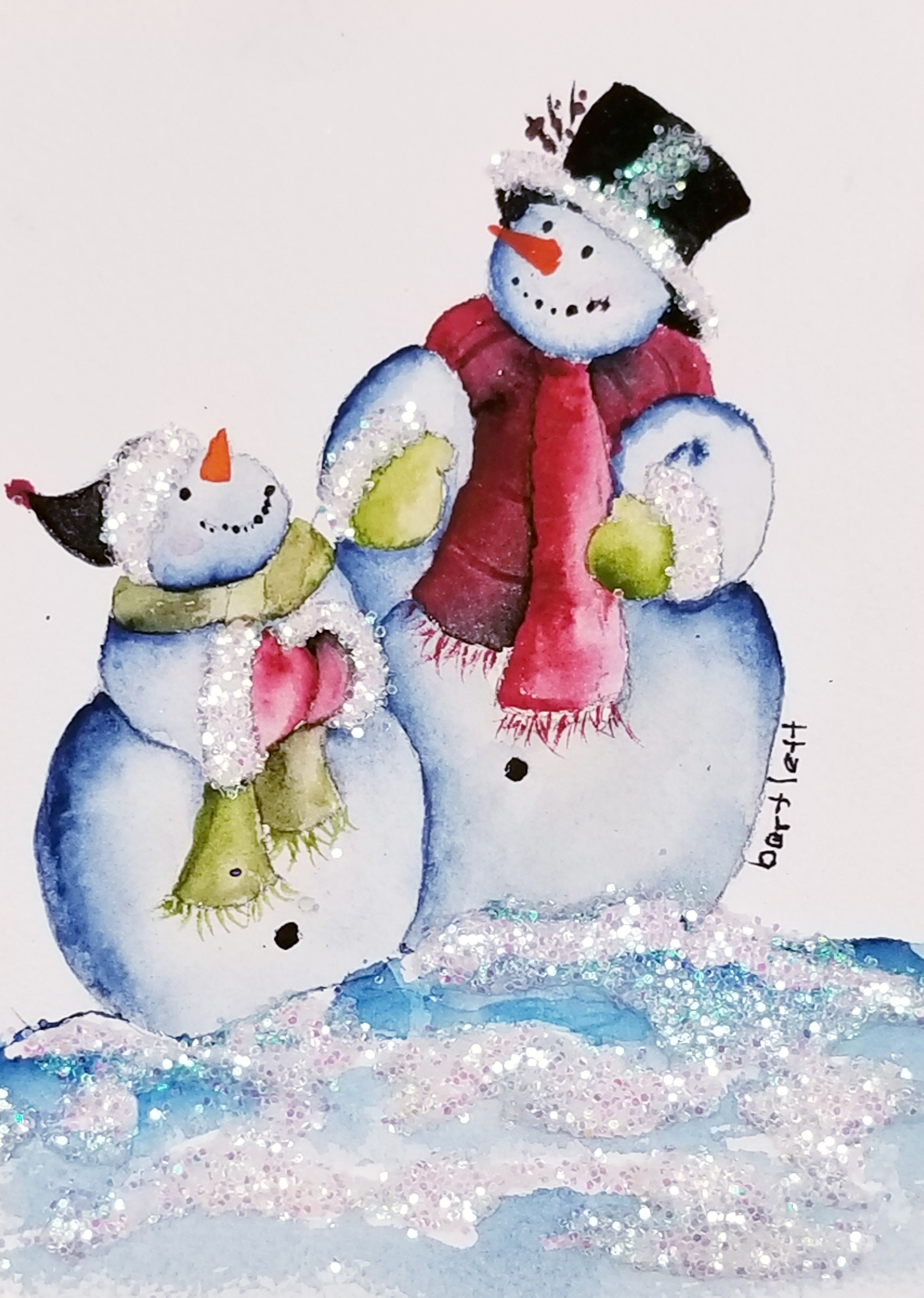 Happy Snow People by Mary B.